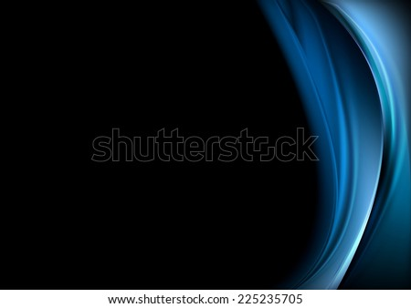 blue waves on black background