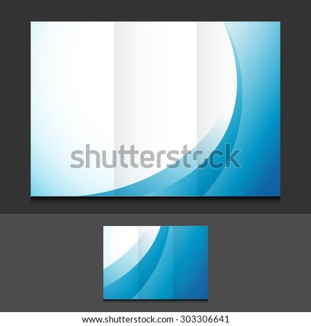 blue waves trifold template