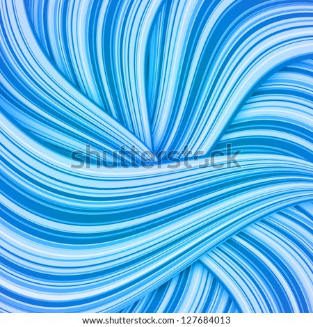 blue waves vector abstract