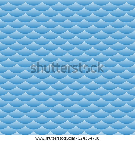 Blue waves vector seamless background