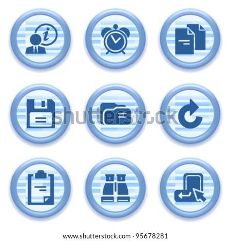 Blue web icons set 3