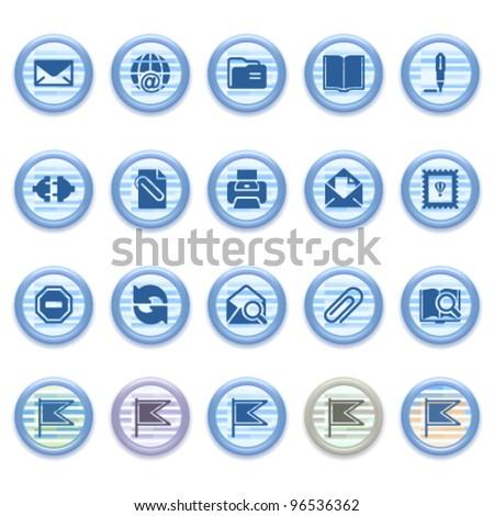 Blue web icons set 11