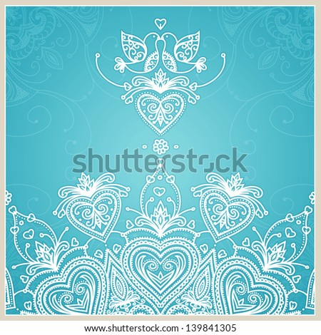 blue wedding invitation design