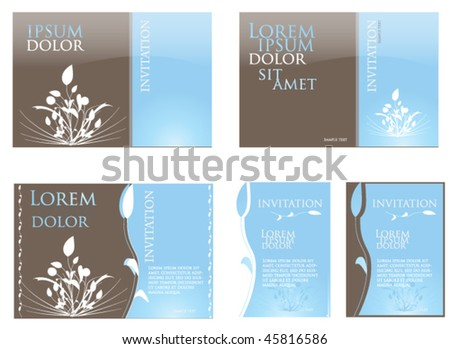 stock vector blue wedding invitation template blue wedding invite clipart
