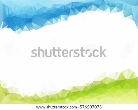 blue white green polygonal