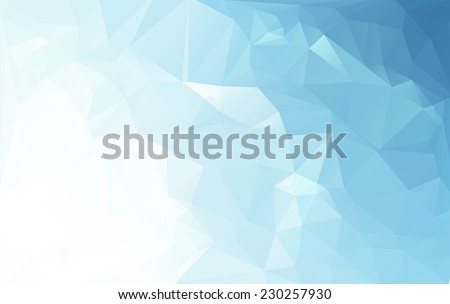 blue white light polygonal