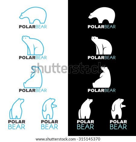 blue white polar bear logo