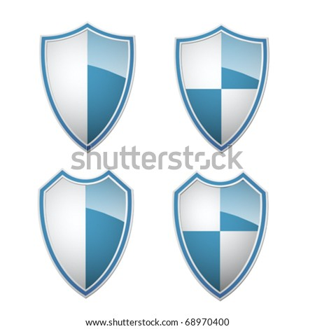 blue white shields collection