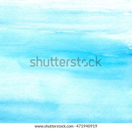 blue white watercolor stylized