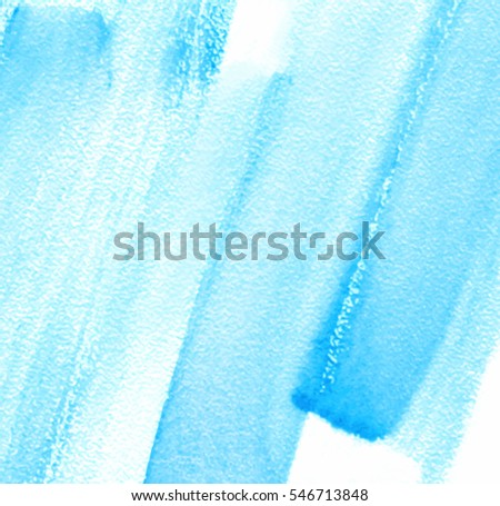 blue white watercolor wet brush paint stroke vector card for text design wallpaper abstract