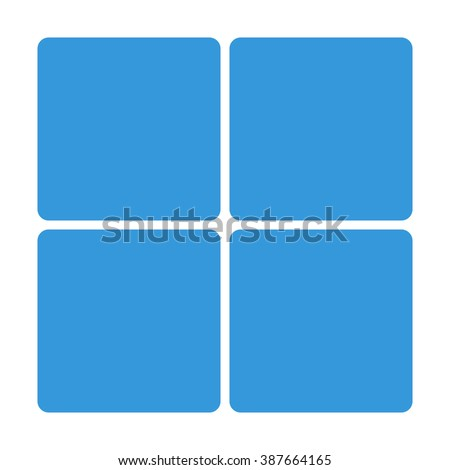 blue window block icon isolated