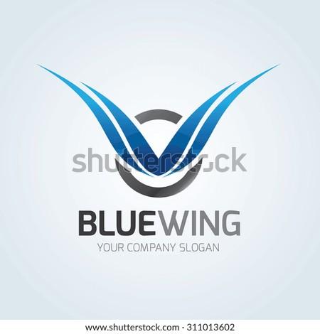 blue wing logo wing logo eagle