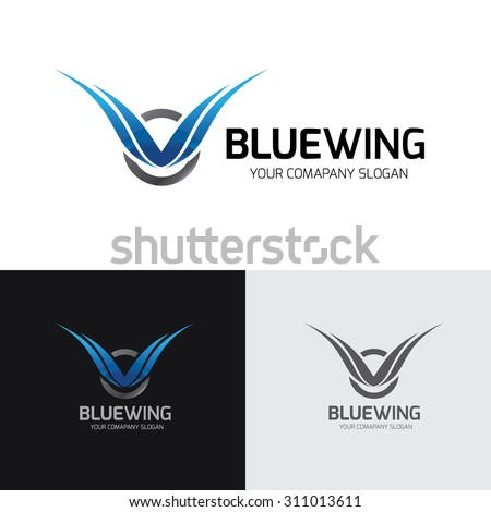 blue wing logo wing logo eagle