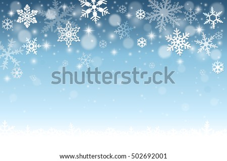 blue winter background with