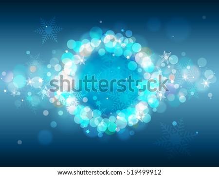 blue winter vector background