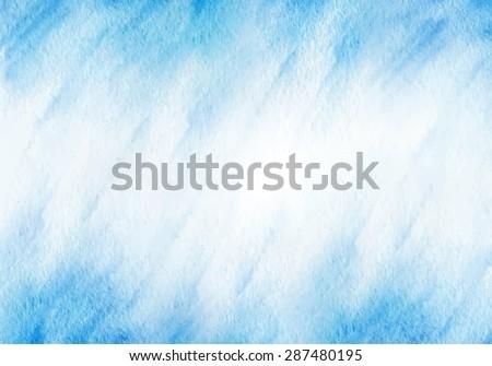 blue winter watercolor