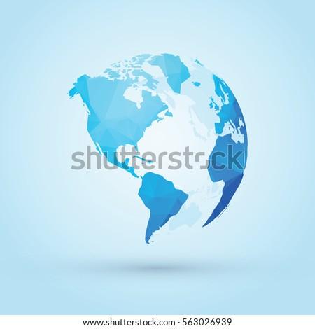blue world globe north  central ...