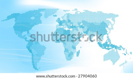 World map made with dots download free vector art stock graphics blue world map made up of dots all elements and textures are individual objects gumiabroncs Images