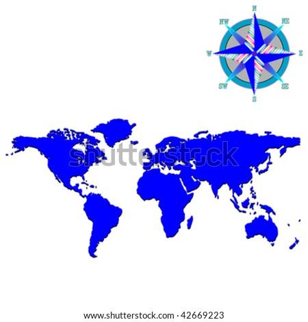 world map vector art. world map vector art. stock