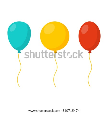 stock-vector-blue-yellow-and-red-balloons-in-cartoon-flat-style-isolated-on-white-background-vector-set
