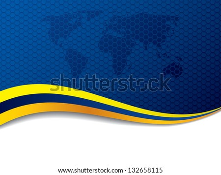 stylish letterhead design with yellow wave design download free