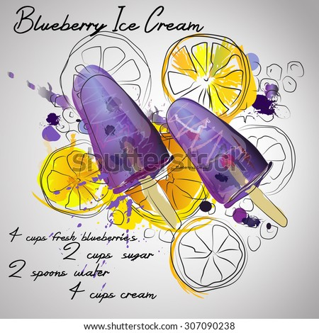 blueberry ise with lemon