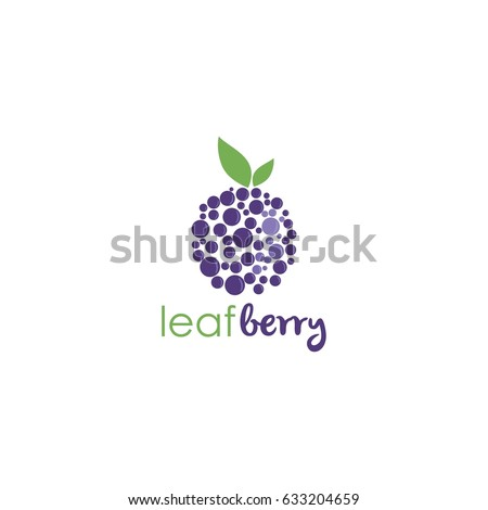 Blueberry Logo Template Vector Design