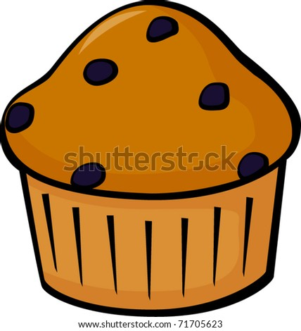 Blueberry Muffins Clipart Blueberry Muffin Stock Vector