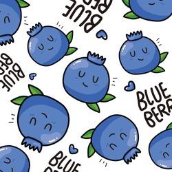 blueberry pattern.Vector illustration.