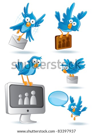 Bluebird Cartoon illustration