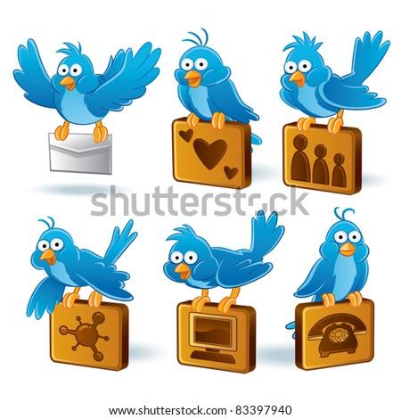 Bluebird Cartoon illustration