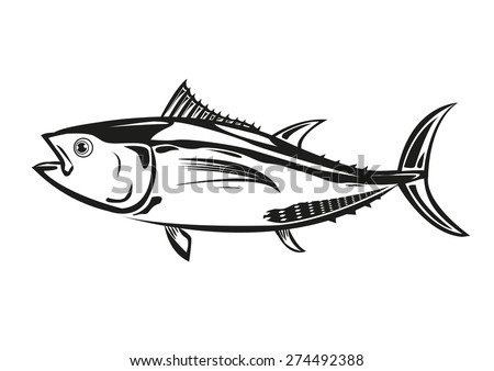 bluefin tuna outline silhouette
