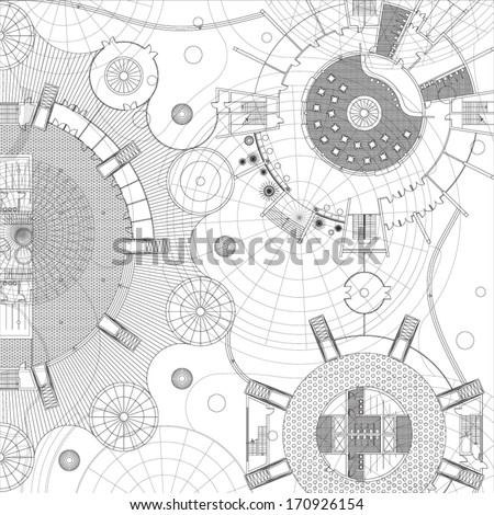 Blueprint Architectural background