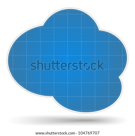 Blueprint cloud, vector eps10 illustration