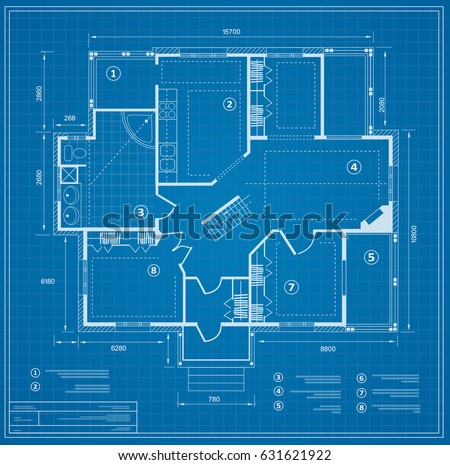 blueprint house plan drawing