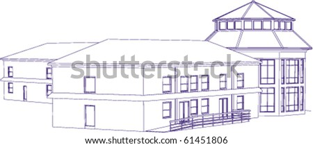 Blueprint of administrative building