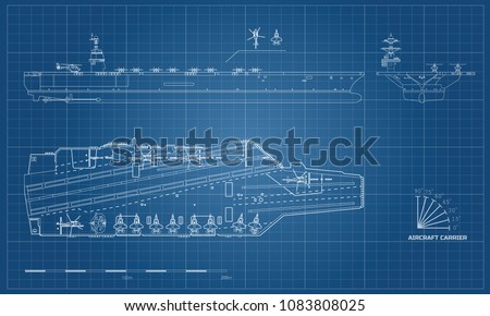 blueprint of aircraft carrier