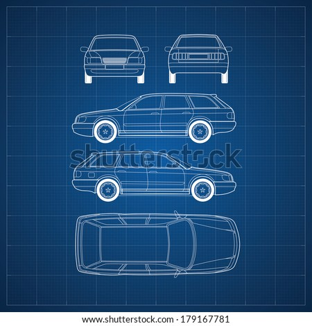 blueprint of commercial vehicle