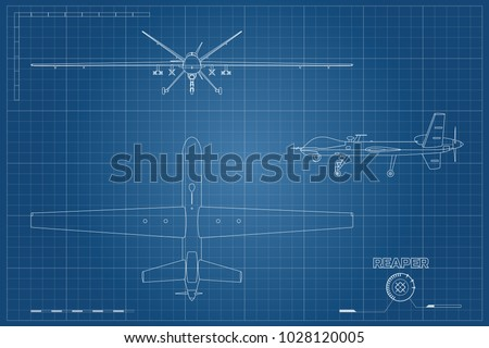 blueprint of military drone in