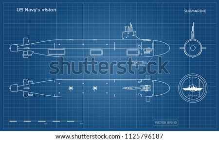 blueprint of submarine