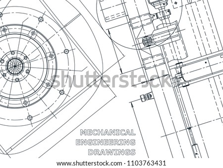 Car Engine Blue Print