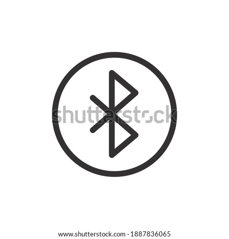 Bluetooth button line icon for web template and app. Vector illustration design on white background. EPS 10