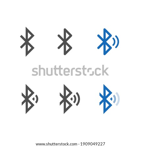 Bluetooth icon set, Vector isolated connection sign, wireless technology concept.