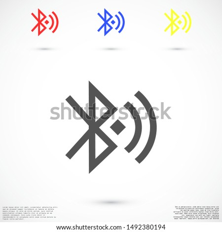Bluetooth vector icon. Bluetooth for file transfer. Bluetooth for phone. Bluetooth online.10 eps icon icons. flat icon design.