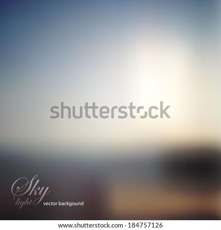 blur landscape vector background