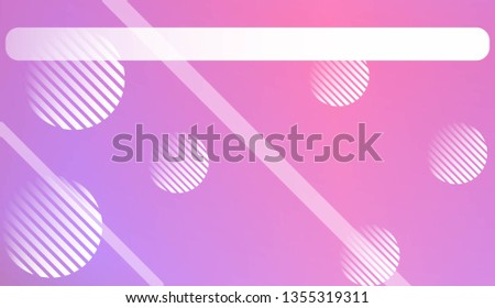 Blur Sweet Dreamy Gradient Color Background with Line, Circle. For Abstract Modern Screen Design For Mobile App. Vector Illustration