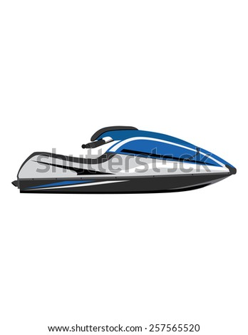 Blur water scooter vector icon isolated, extreme sport, water sport,water transport
