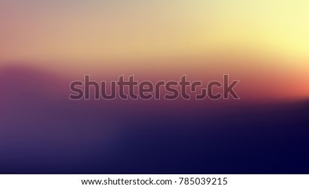 Blurred atmospheric sunset background