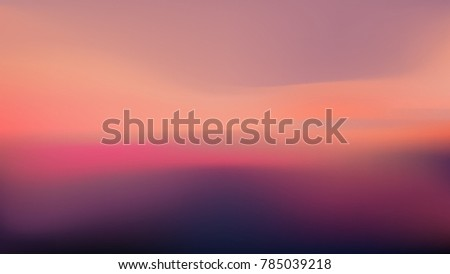 Blurred atmospheric sunset background