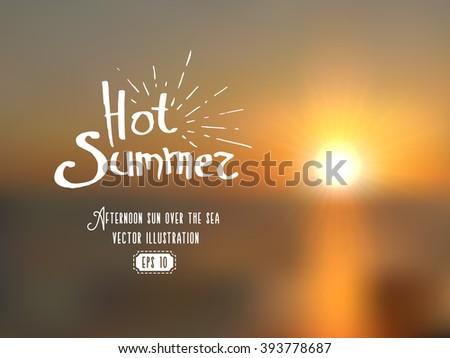 blurred background of summer
